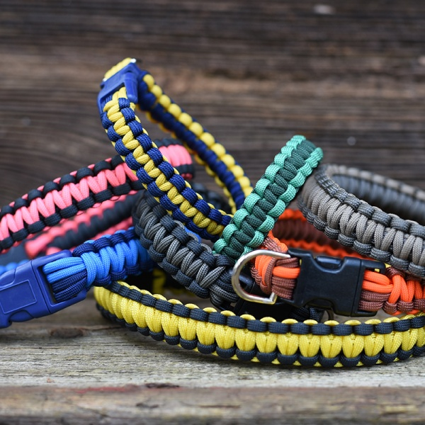 Knots 4 Kritters - cobra weave paracord dog collar