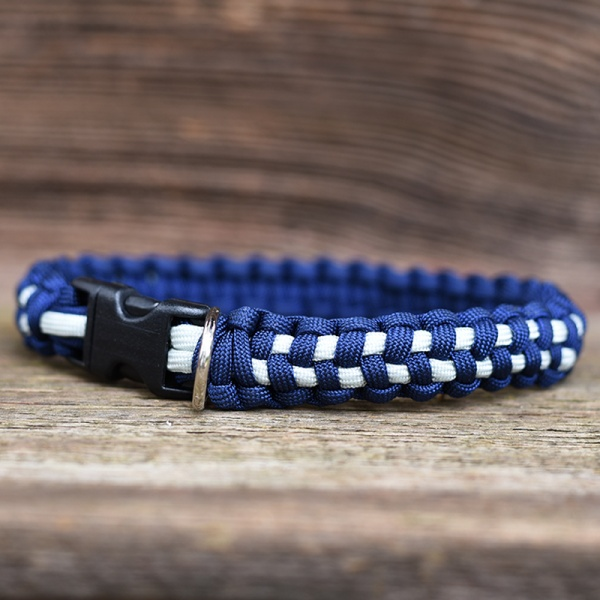 Knots 4 Kritters - checkerboard weave paracord dog collar