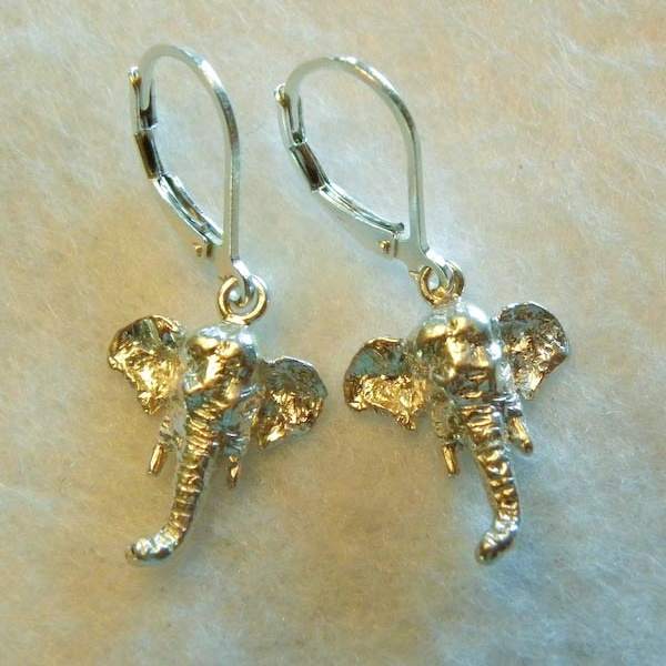 Asian Elephant Head Earrings