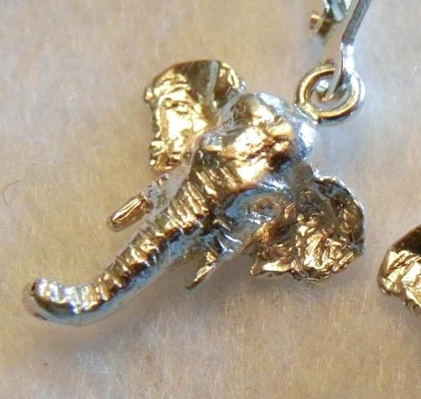 Asian Elephant Head Earrings