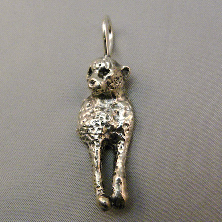 Michele's Wearable Art - Cheetah with front legs Pendant