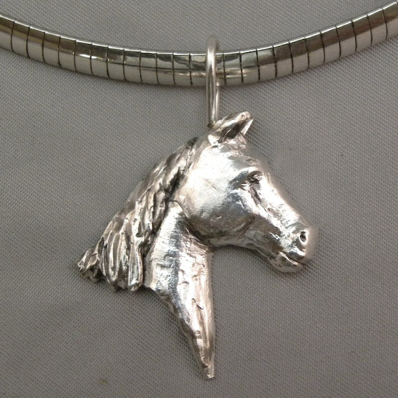 Michele's Wearable Art - Horse Head Right Profile Pendant