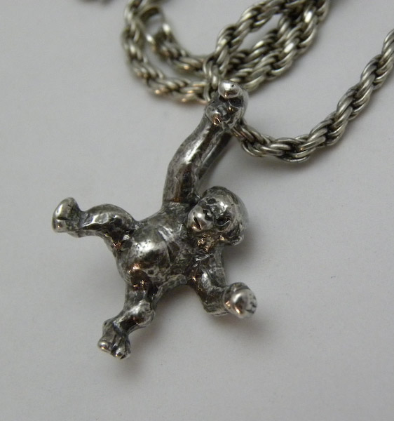 Michele's Wearable Art - Chimpanzee Pendant