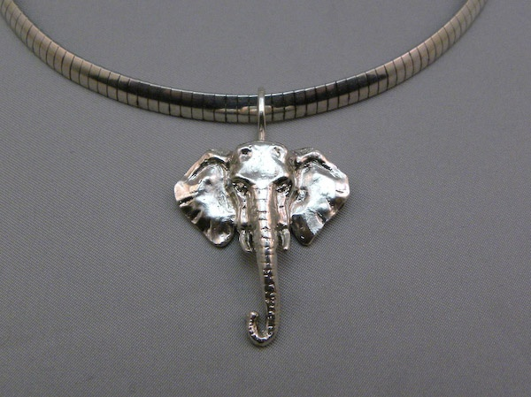Michele's Wearable Art - African Elephant Large Pendant