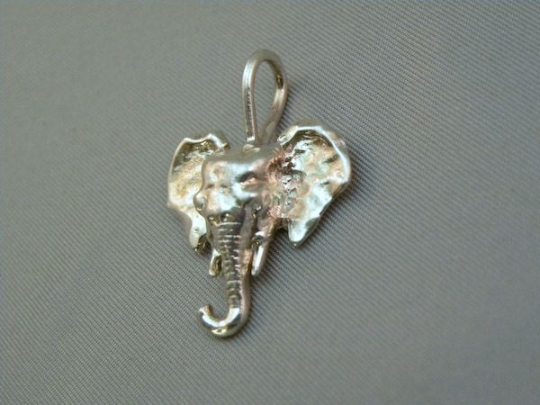 Michele's Wearable Art - Asian Elephant Pendant