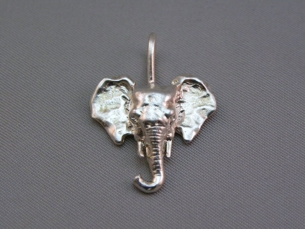 Michele's Wearable Art - Asian Elephant Pendant