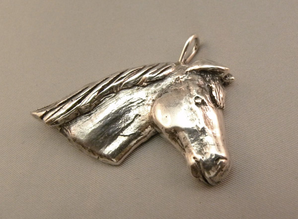 Michele's Wearable Art - Large Horse Head Pendant