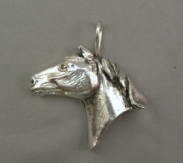 Michele's Wearable Art - Horse Head Left Profile Pendant