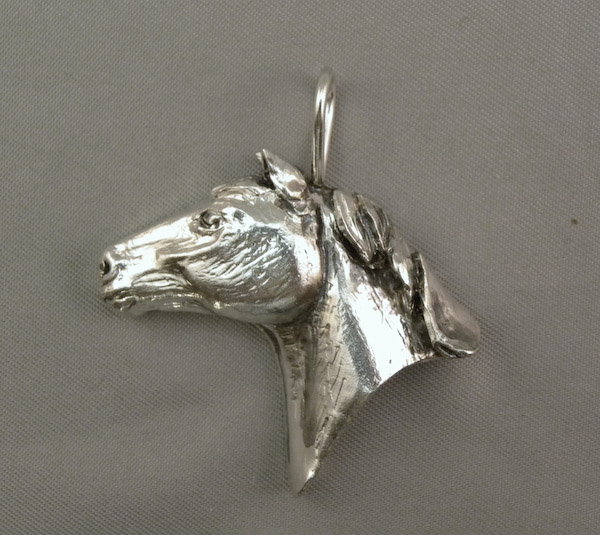 Michele's Wearable Art - Horse Head Left Profile Pendant