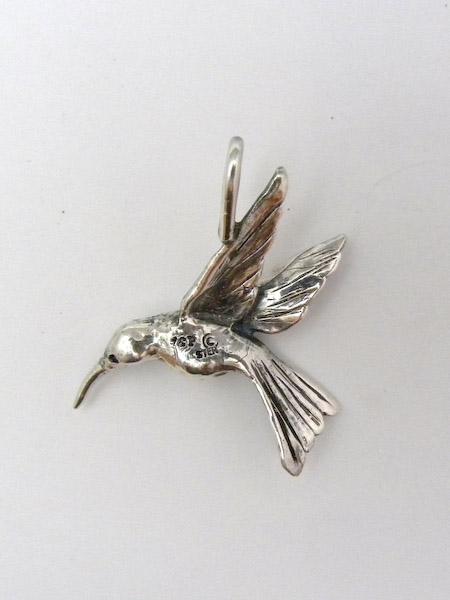 Michele's Wearable Art - Hummingbird Pendant