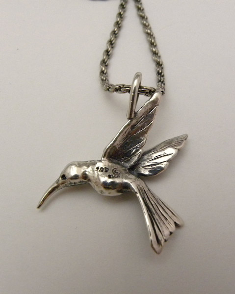 Michele's Wearable Art - Hummingbird Pendant