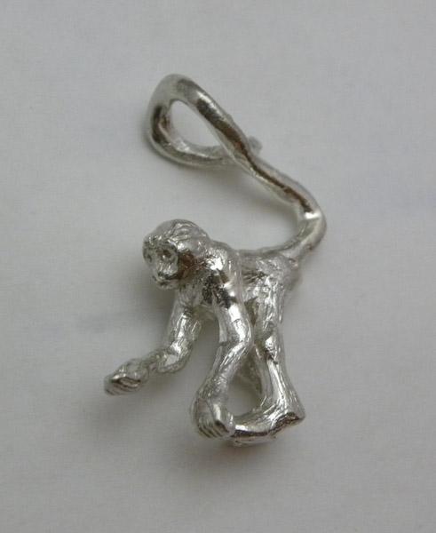 Michele's Wearable Art - Monkey Pendant