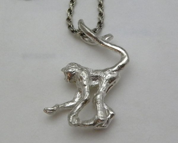 Michele's Wearable Art - Monkey Pendant