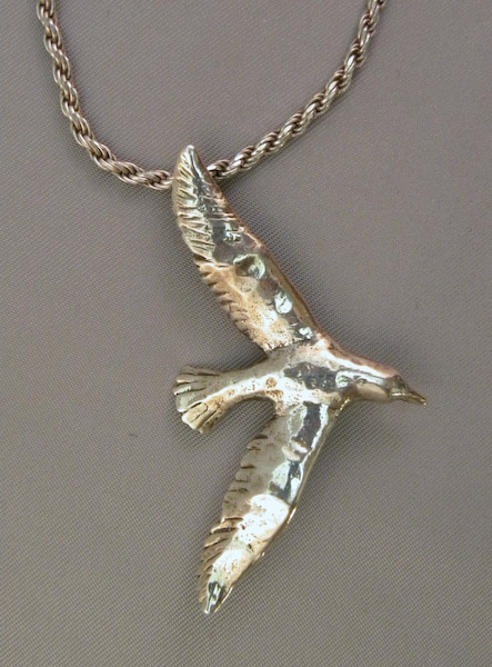 Michele's Wearable Art - Seagull Pendant