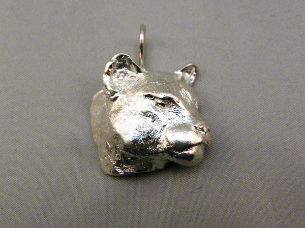 Michele's Wearable Art - Cougar Pendant