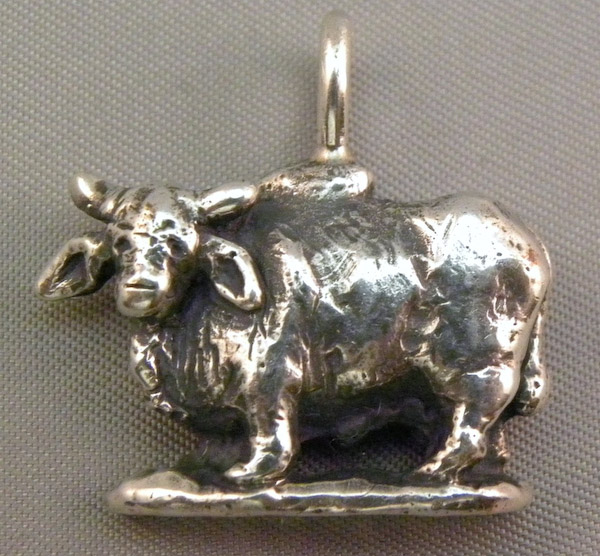Michele's Wearable Art - Brahman Bull Pendant
