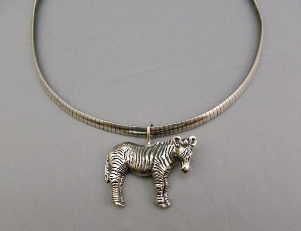Michele's Wearable Art - Zebra Full Body Pendant