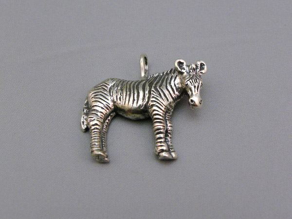 Michele's Wearable Art - Zebra Full Body Pendant