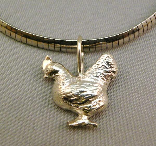 Michele's Wearable Art - Chicken Pendant