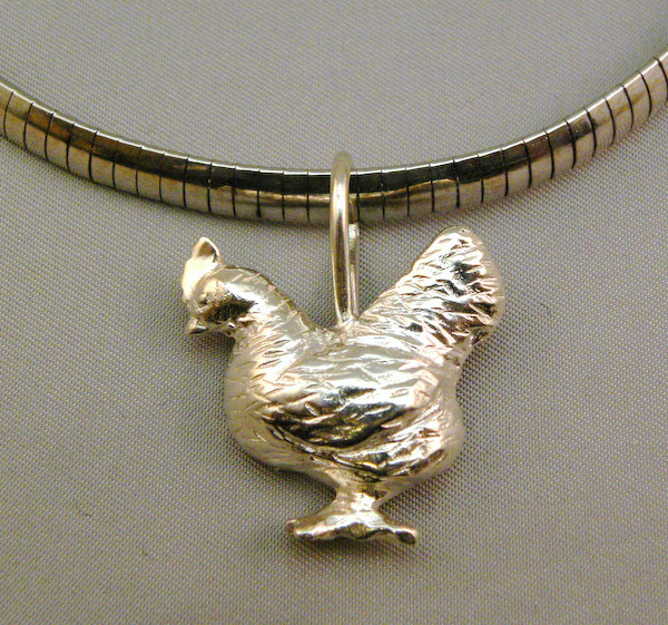 Michele's Wearable Art - Chicken Pendant