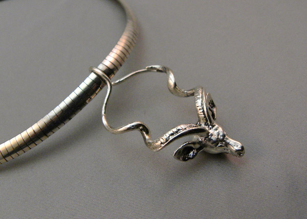 Michele's Wearable Art - Kudu Pendant