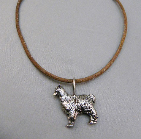 Michele's Wearable Art - Alpaca Pendant