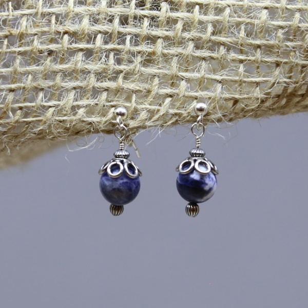 Michele's Wearable Art - Sodalite Studs