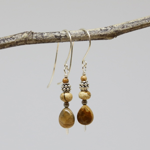 Michele's Wearable Art - Picture Jasper Drops