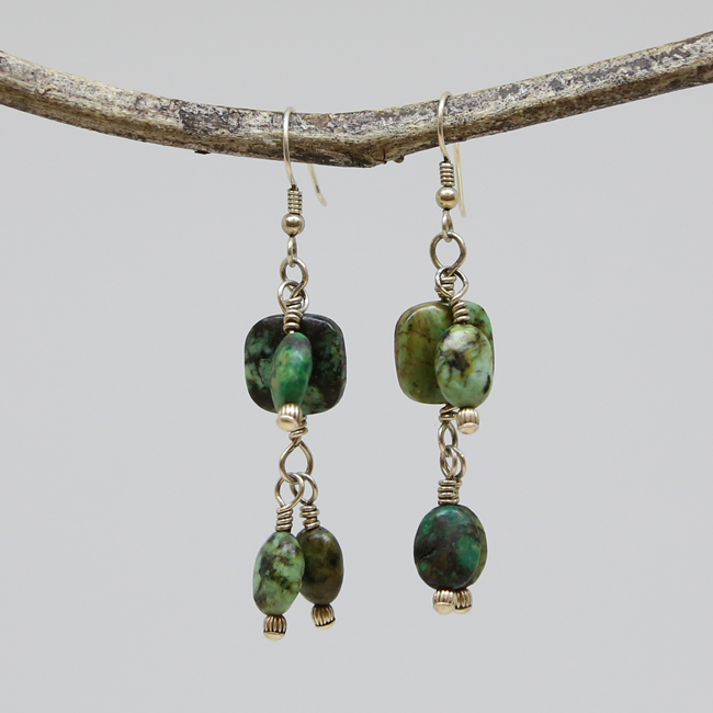 Michele's Wearable Art - African Turquoise Chandeliers