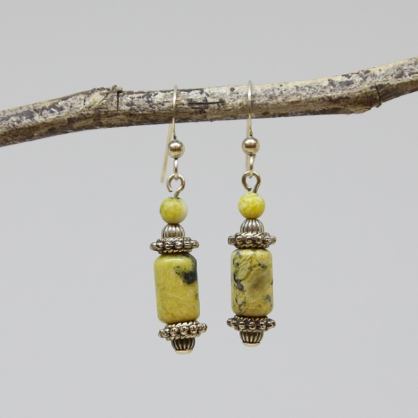 Michele's Wearable Art - Yellow Turquoise Drops