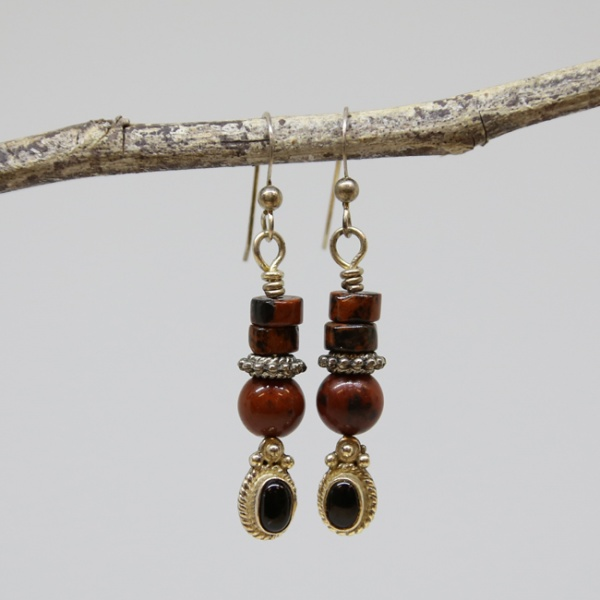 Mahogany Michele's Wearable Art - Obsidian and Black Agate