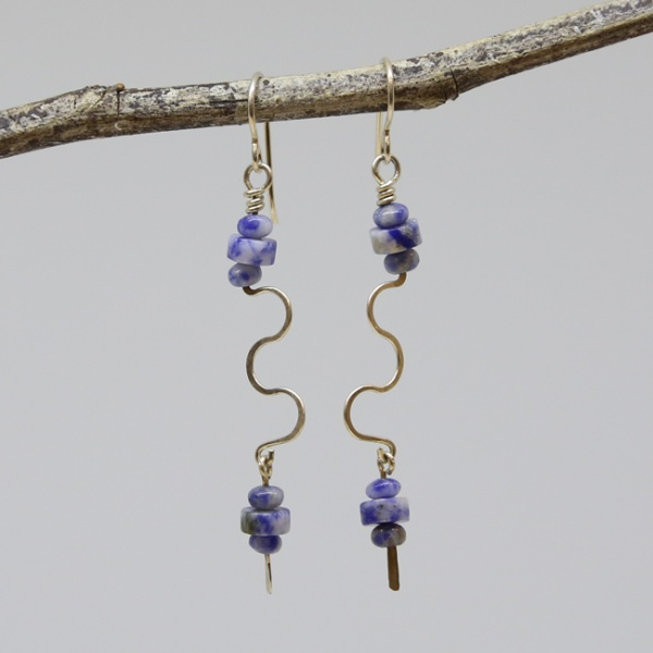 Michele's Wearable Art - Sodalite Wiggle Drops