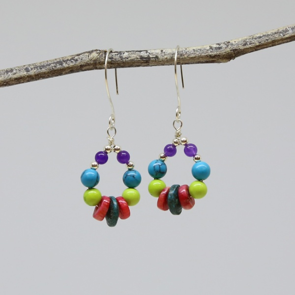 Michele's Wearable Art - Festive Teardrops of Color