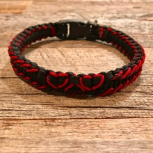 L-O-V-E Collection Three Hearts w/ Red Banding Collar